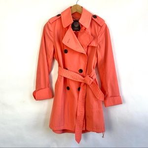 Vince Camuto Coral Belted Raincoat PXS